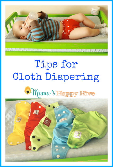 Several helpful tips on how we cloth diaper in our home. We keep it simple and easy! - www.mamashappyhive.com