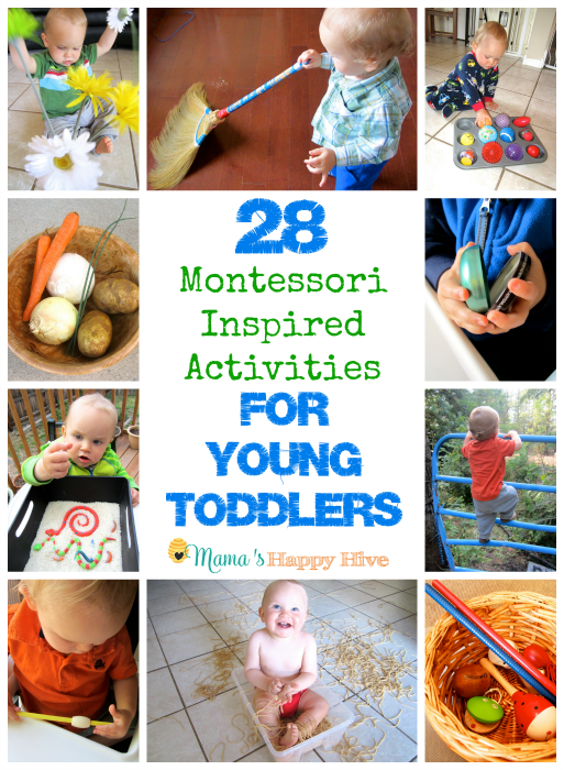 28 Activities for Young Toddlers - www.mamashappyhive.com