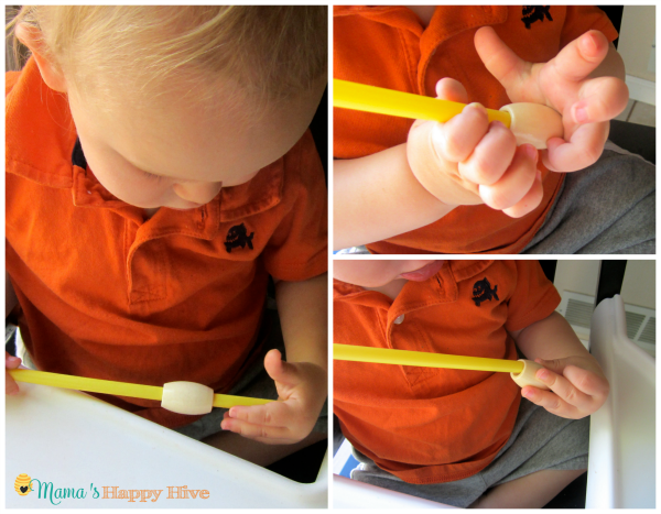 Threading with a Straw - www.mamashappyhive.com