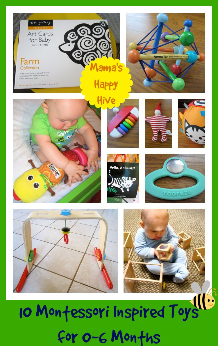10 Montessori Inspired Toys for 0-6 Months - www.mamashappyhive.com
