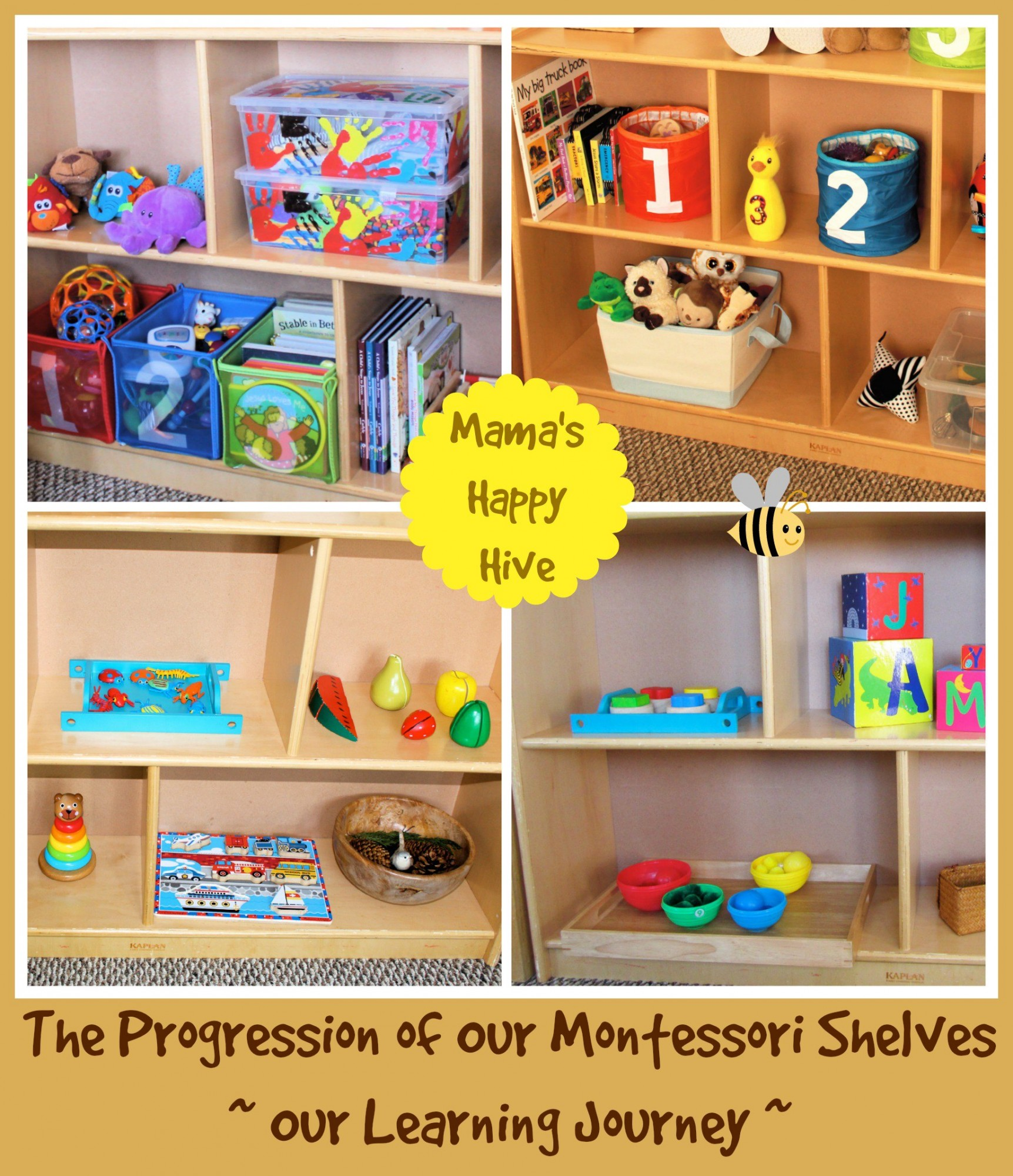 The Progression of Our Montessori Shelves