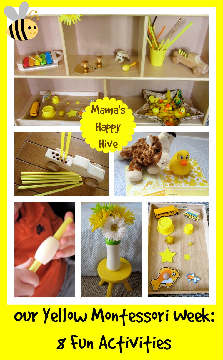 Montessori Toddler Study of Yellow - www.mamashappyhive.com