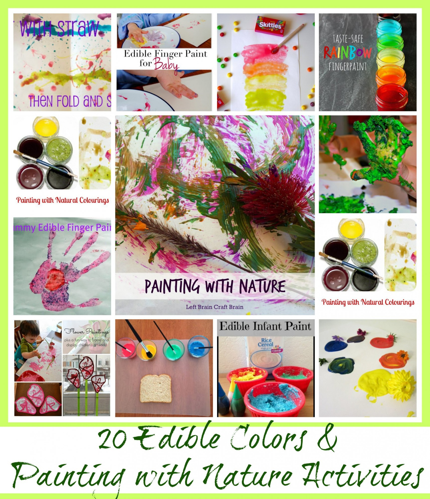 20 Edible Colors and Painting with Nature Activities - www.mamashappyhive.com