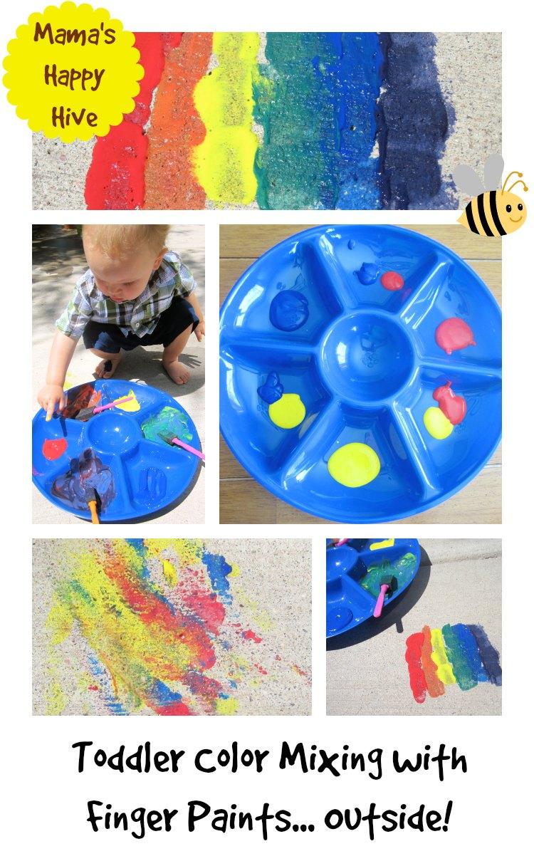 Toddler Rainbow Finger Paints