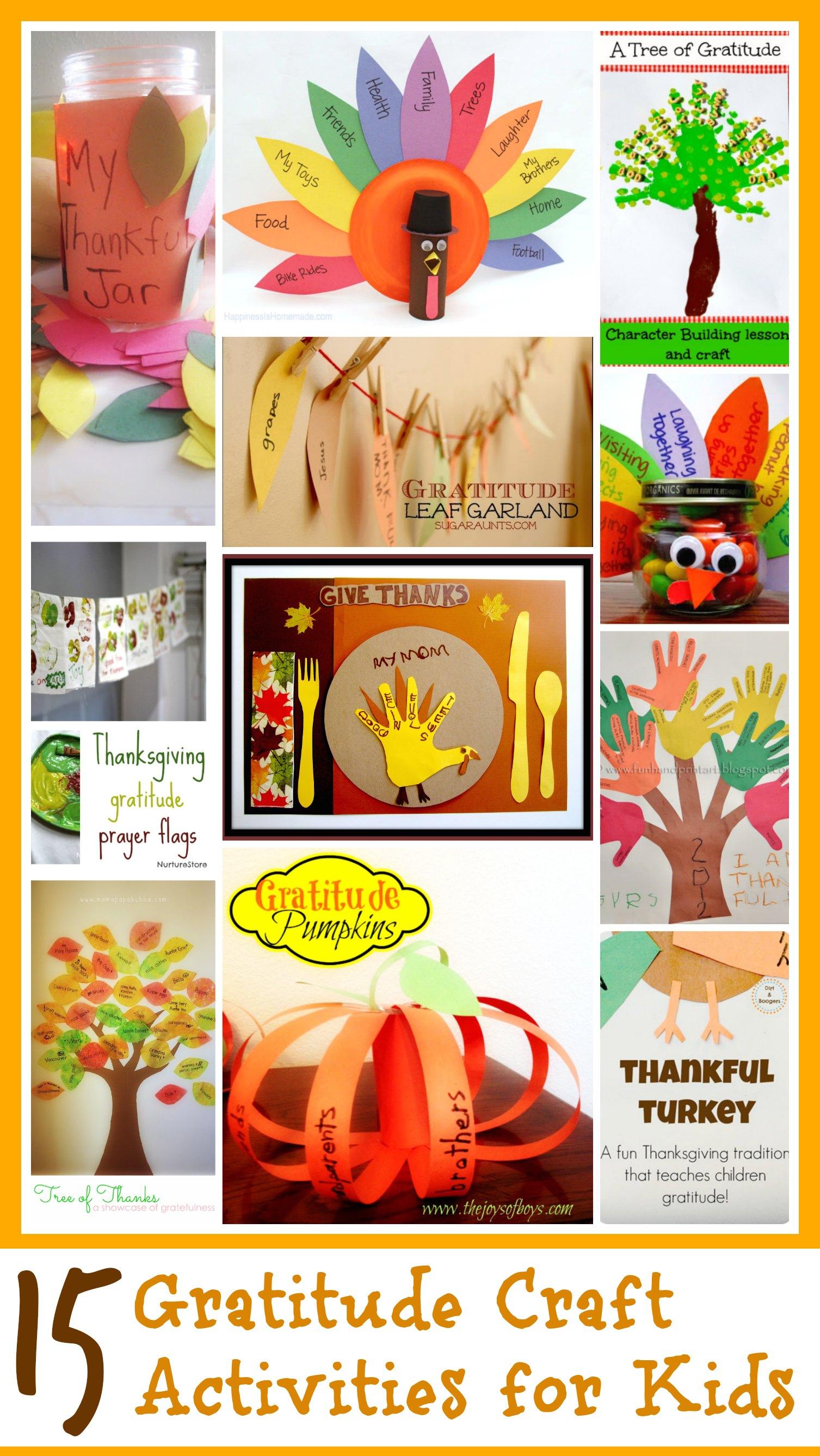 Kindness crafts for preschoolers - 15 Gratitude Crafts For Kids
