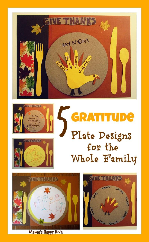 5 Gratitude Plate Designs - www.mamashappyhive.com