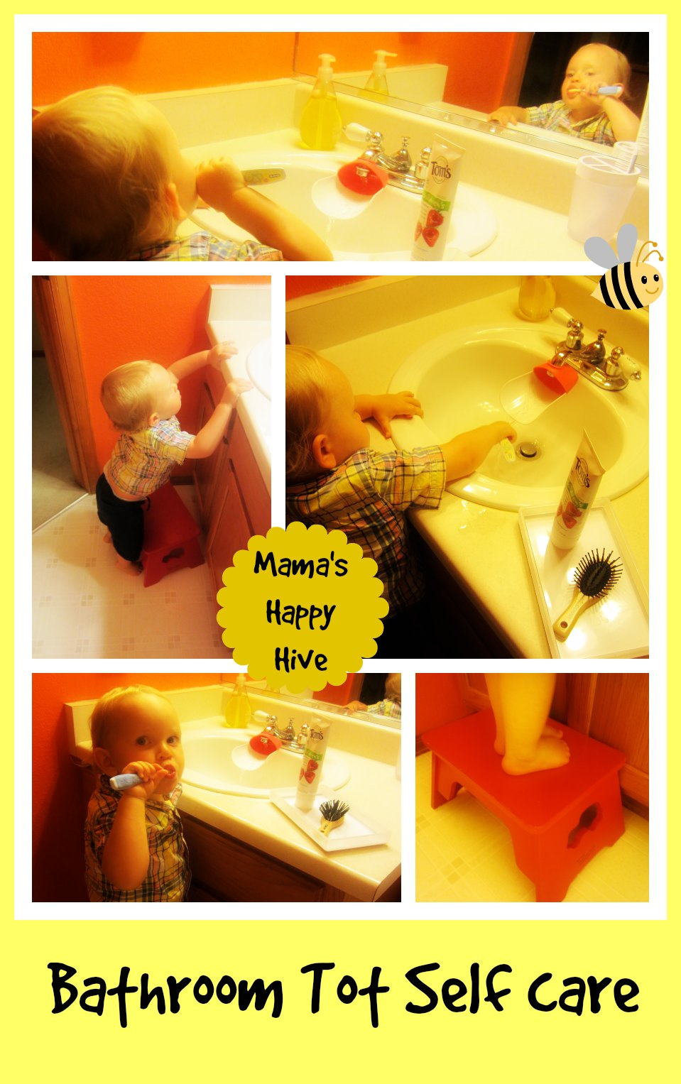 Bathroom Tot Self Care - www.mamashappyhive.com