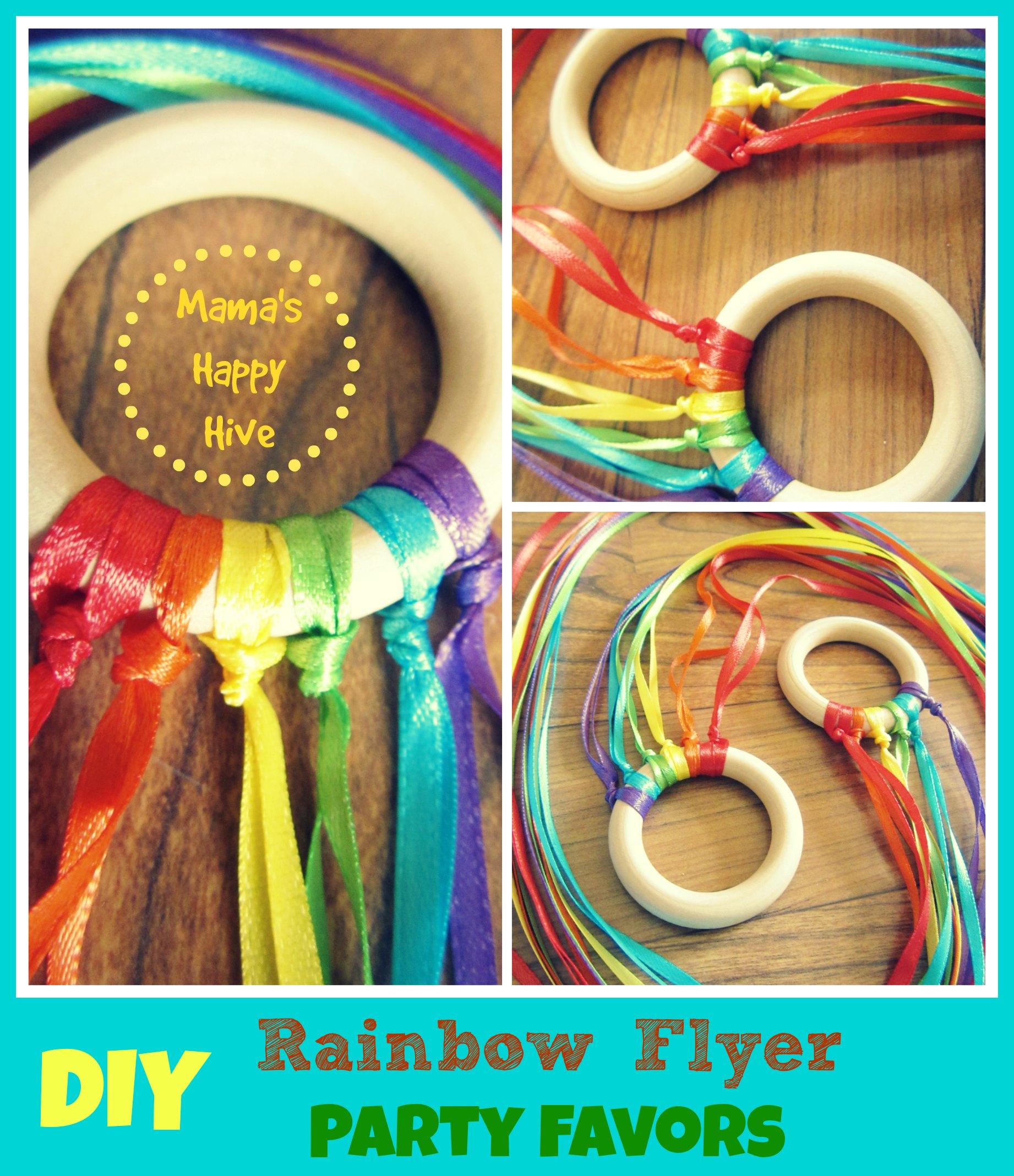 DIY Party Favors: Mini Rainbow Flyer