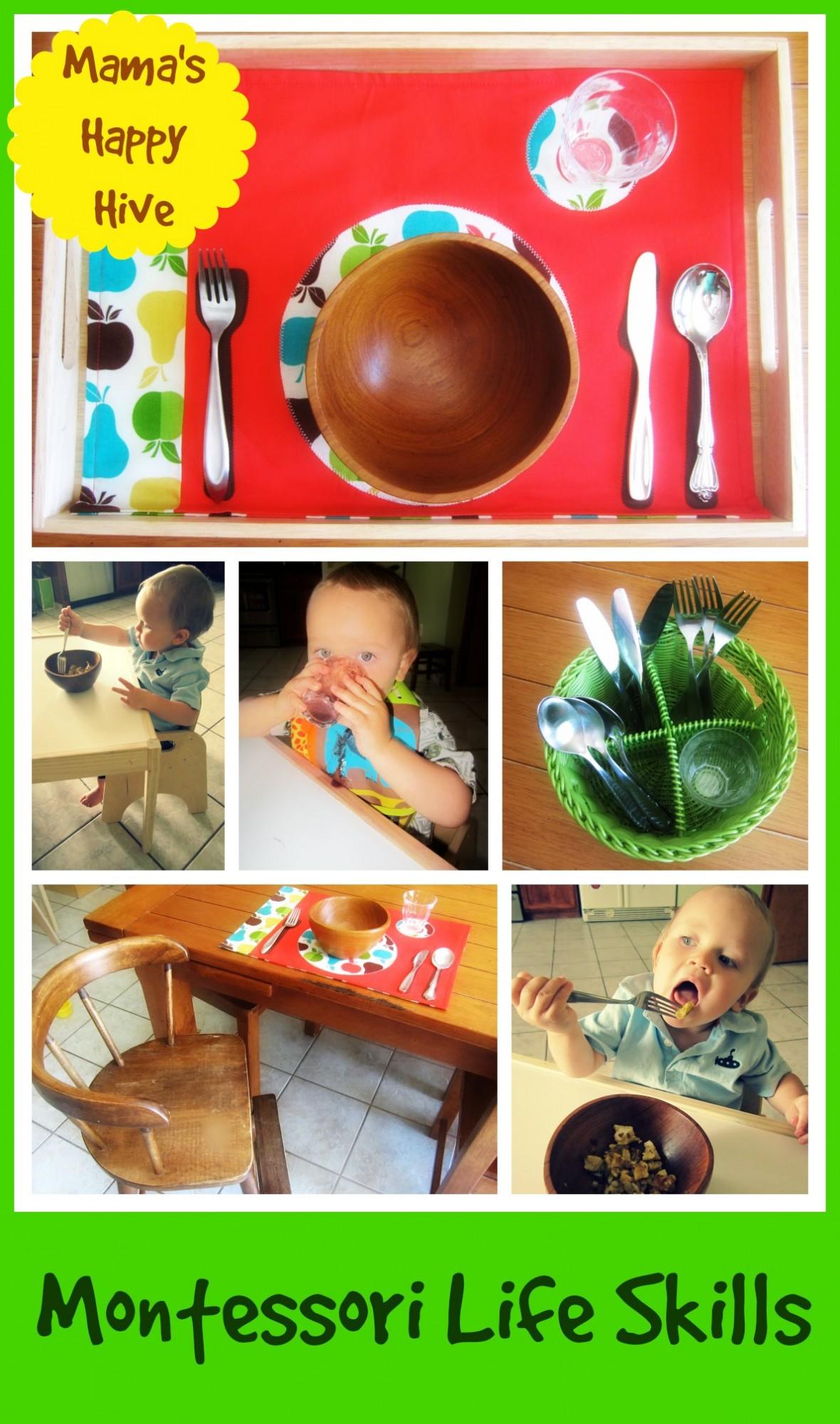 Montessori Life Skills - www.mamashappyhive.com