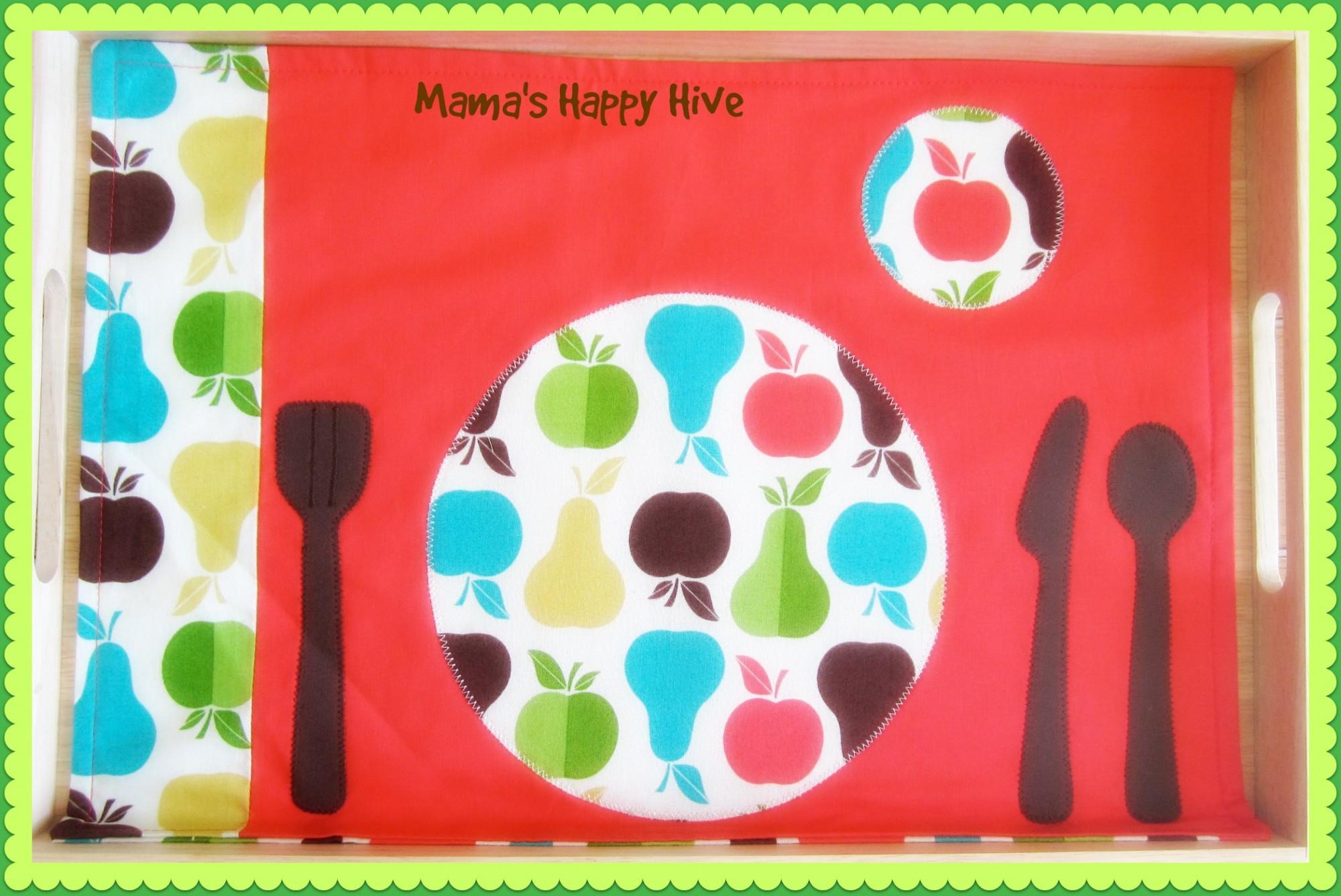Montessori Placemat - www.mamashappyhive.com