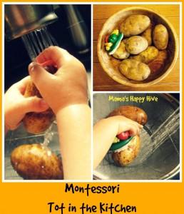 Montessori Tot in Kitchen - httpwww.mamashappyhive.com