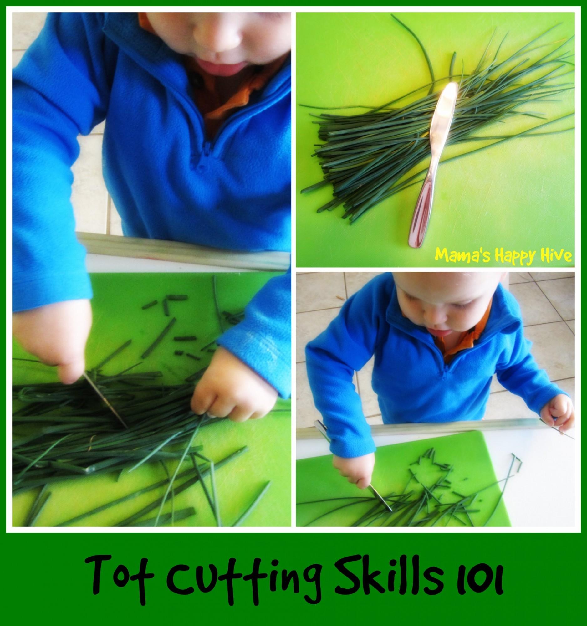 Toddler Cutting Skills - www.mamashappyhive.com