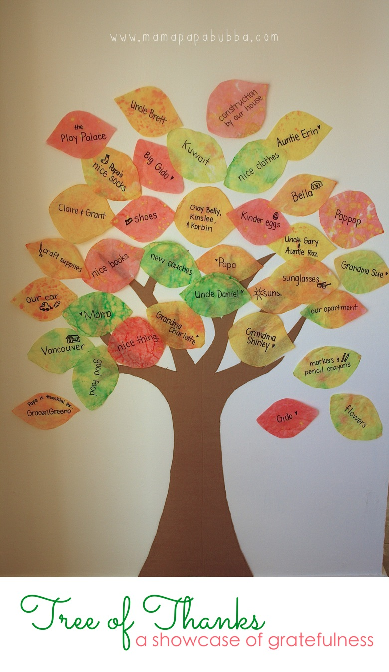 15 gratitude crafts for kids mama 39 s happy hive for Thankful tree craft for kids