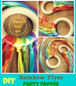 DIY Party Favors: Mini Rainbow Flyer