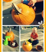 Montessori Fall Fun – Scrub the Pumpkin