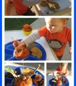 Pumpkin Play Dough Provocation