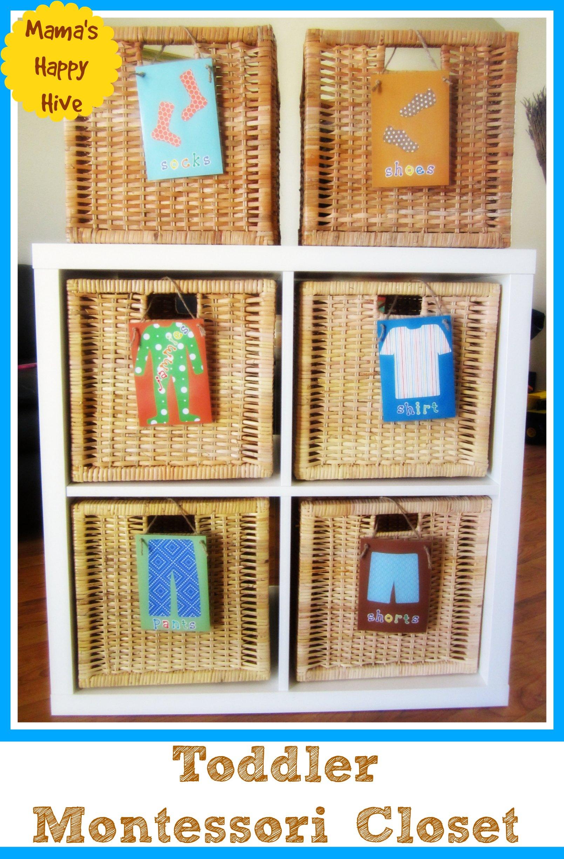 Toddler Montessori Closet