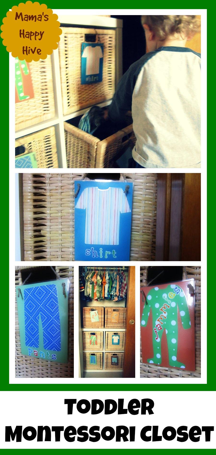 Tot Montessori Closet - www.mamashappyhive.com