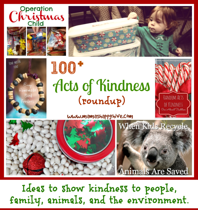 100+ Acts of Kindness Roundup