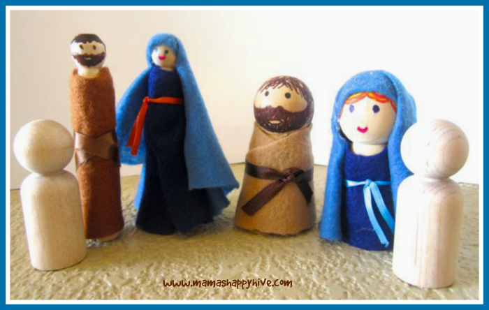 Biblical Wooden Peg People Craft Tutorial