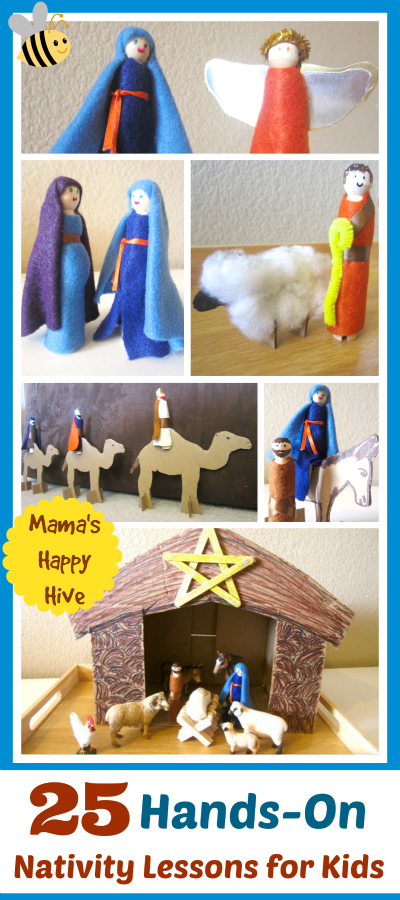 This is a beautiful compilation of 25 hands-on nativity lessons for kids for counting down towards the Advent. Also, an easy and inexpensive craft tutorial. - www.mamashappyhive.com
