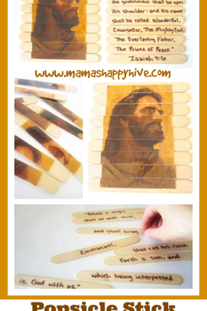 Popsicle Stick Scripture Memory Puzzle