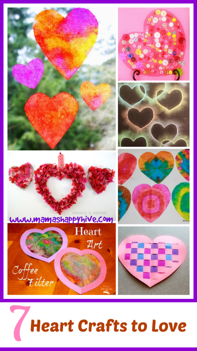 7 Heart Crafts to Love - www.mamashappyhive.com