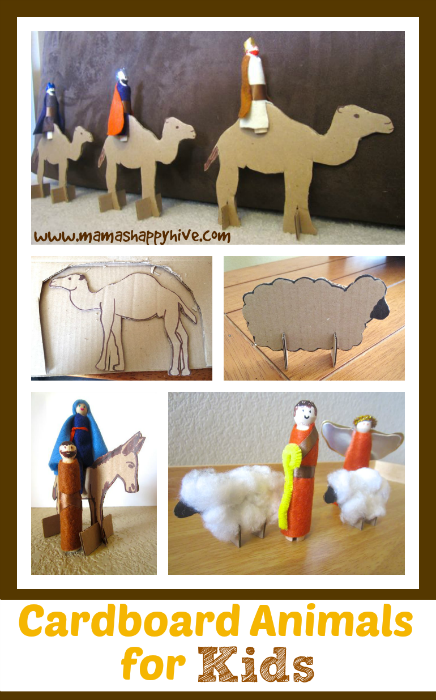 Cardboard Animals for Kids - www.mamashappyhive.com
