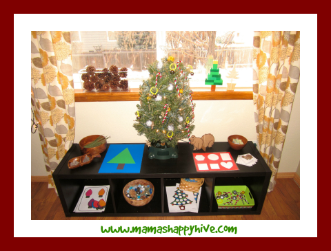 Christmas Montessori Shelves
