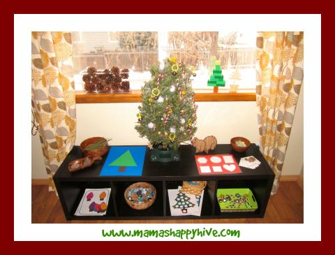 Christmas Montessori Shelves