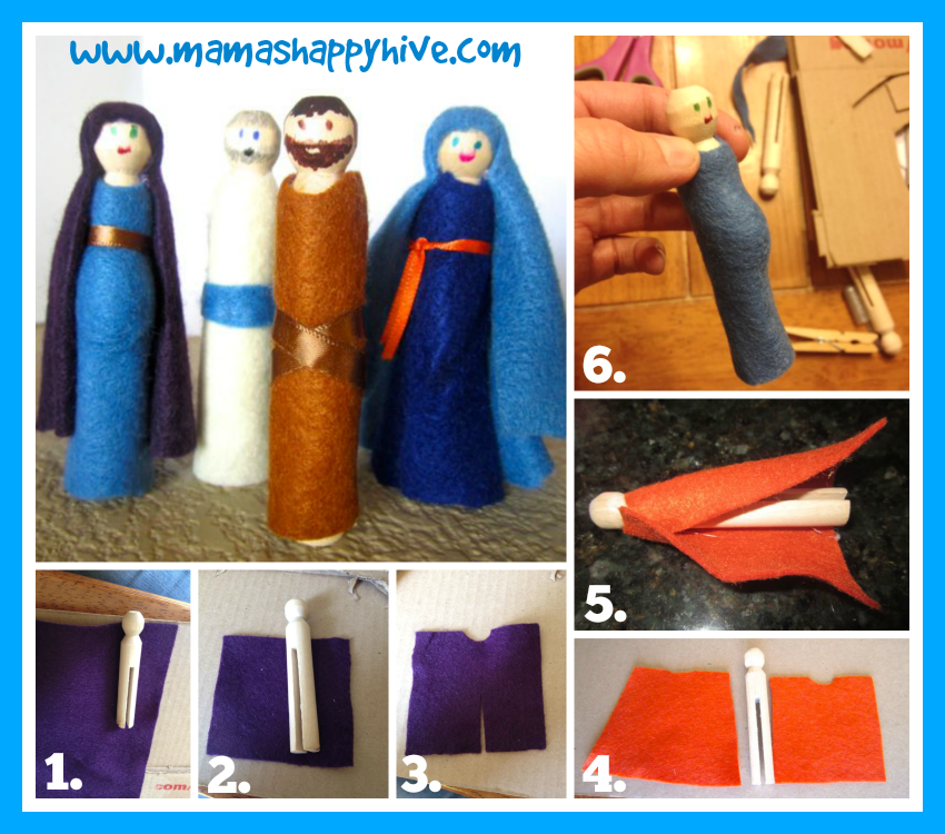 Crafting Peg People - www.mamashappyhive.com