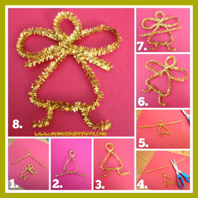 DIY Pipe Cleaner Angel - www.mamashappyhive.com