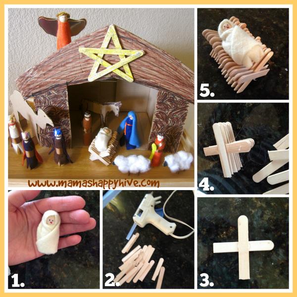 Baby Jesus In A Craft Stick Manger Tutorial Mama S
