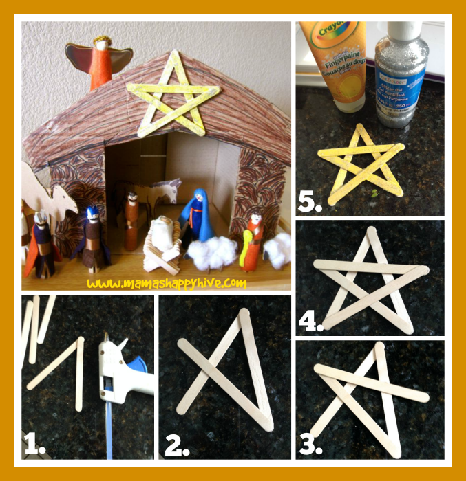 Cardboard Nativity Stable Tutorial