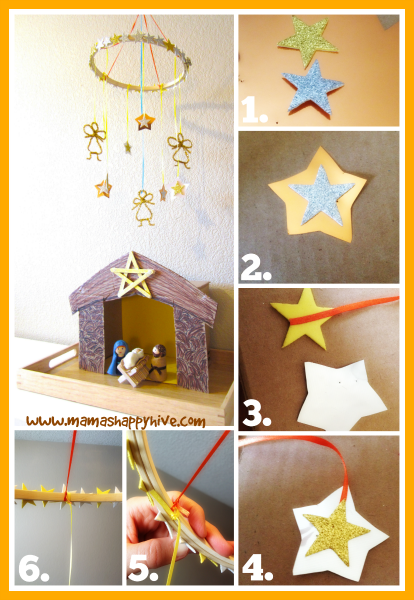 DIY Stars and Angels Mobile for Kids