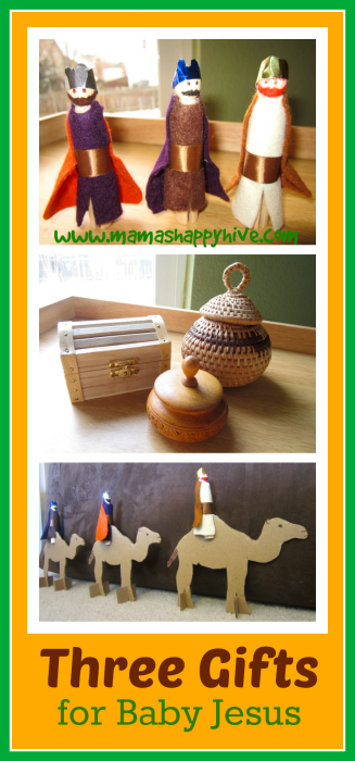 Three Gifts for Baby Jesus - www.mamashappyhive.com