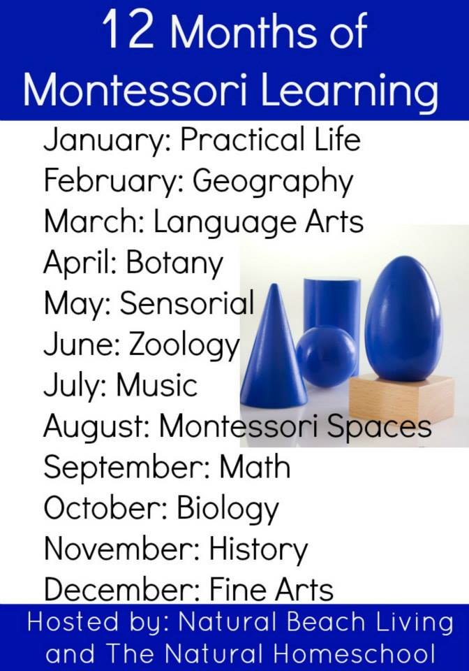 12 Months of Montessori Learning - www.mamashappyhive.com