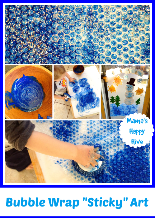 Bubble Wrap Sticky Art - www.mamashappyhive.com