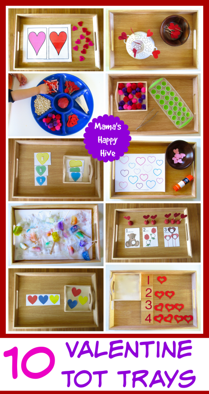 10 Valentine Tot Trays