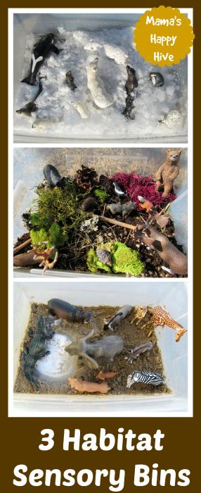 3 DIY Montessori Inspired Sensory Habitats
