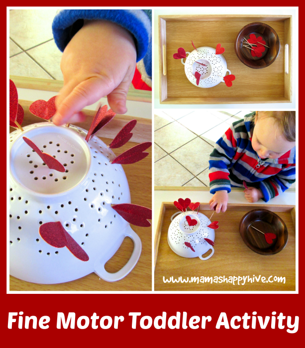 Fine Motor Toddler Activity - www.mamashappyhive.com