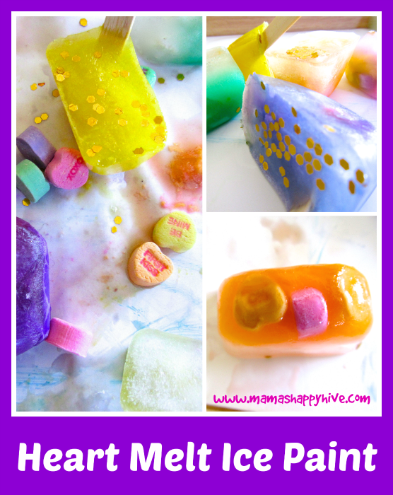 Heart Melt Ice Paint - www.mamashappyhive.com