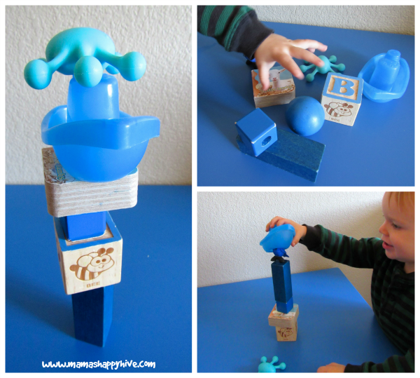 Build a Blue Tower - www.mamashappyhive.com