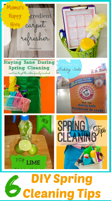 "Enjoy 6 DIY Spring Cleaning Tips and ""A Little Bird Told Me"" Wednesday link party. Don't miss the fun, please come link up! - www.mamashappyhive.com"