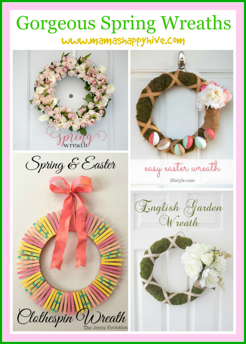 Gorgeous Spring Wreaths & Link Party (#3)