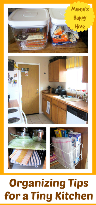 Organizing Tips for a Tiny Kitchen - www.mamashappyhive.com