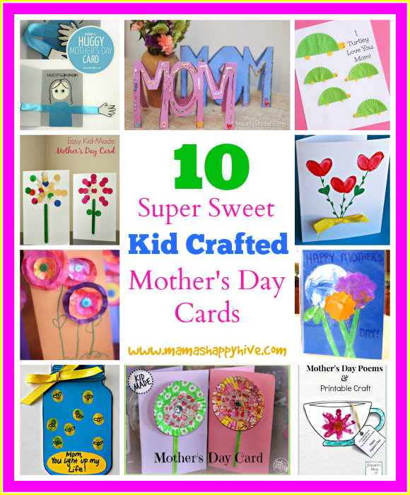 10 Kid Crafted Mother's Day Cards