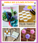 "Bumble Bee and Flower Activities & {""A Little Bird Told Me"" Link Up #6}"