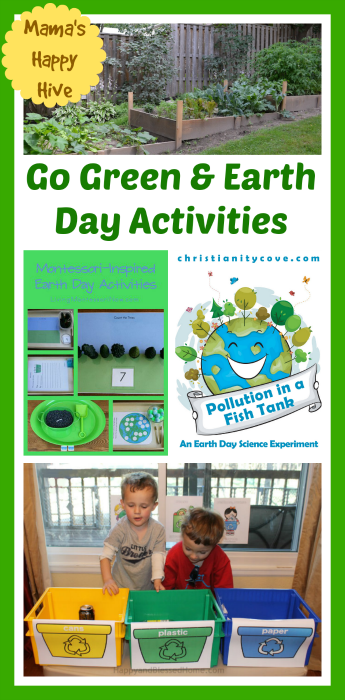 Going Green and Earth Day Activities & Link Party (#5)