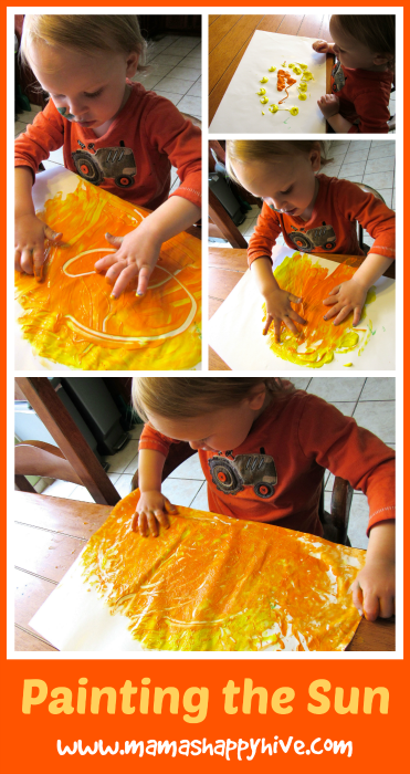 Three toddler sensory play (art) for earth day activities. - www.mamashappyhive.com